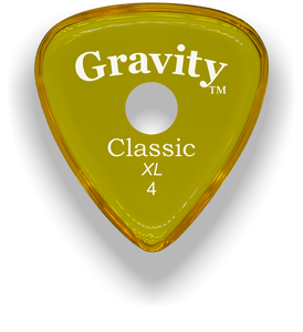 Classic XL 4mm Yellow Single Round Grip Hole Guitar Pick