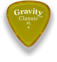 Load image into Gallery viewer, Classic XL 4mm Yellow Polished Bevels Guitar Pick