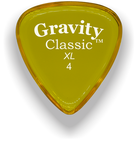 Classic XL 4mm Yellow Polished Bevels Guitar Pick