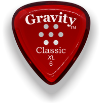 Load image into Gallery viewer, Classic XL 6mm Red Multi Hole Grip Polished Bevels Guitar Pick