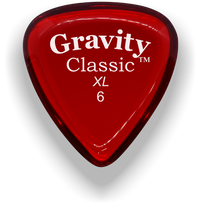 Load image into Gallery viewer, Classic XL 6mm Red Polished Bevels Guitar Pick