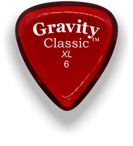 Classic XL 6mm Red Polished Bevels Guitar Pick