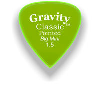 Load image into Gallery viewer, Classic Pointed Big Mini 1.5mm Fluorescent Green Acrylic Guitar Pick Handmade Custom Best Acoustic Mandolin Electric Ukulele Bass Plectrum Bright Loud Faster Speed