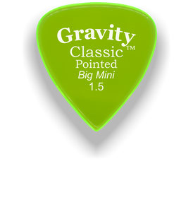 Classic Pointed Big Mini 1.5mm Fluorescent Green Acrylic Guitar Pick Handmade Custom Best Acoustic Mandolin Electric Ukulele Bass Plectrum Bright Loud Faster Speed