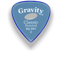 Load image into Gallery viewer, Classic Pointed Big Mini 2.0mm Blue Elipse Grip Acrylic Guitar Pick Handmade Custom Best Acoustic Mandolin Electric Ukulele Bass Plectrum Bright Loud Faster Speed