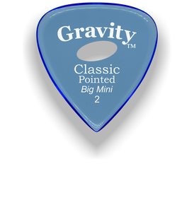 Classic Pointed Big Mini 2.0mm Blue Elipse Grip Acrylic Guitar Pick Handmade Custom Best Acoustic Mandolin Electric Ukulele Bass Plectrum Bright Loud Faster Speed