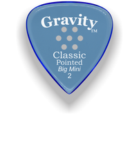 Load image into Gallery viewer, Classic Pointed Big Mini 2.0mm Blue Multi-Hole Grip Acrylic Guitar Pick Handmade Custom Best Acoustic Mandolin Electric Ukulele Bass Plectrum Bright Loud Faster Speed