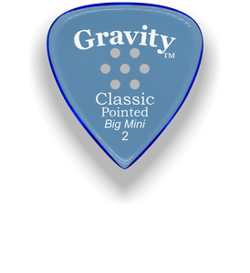 Classic Pointed Big Mini 2.0mm Blue Multi-Hole Grip Acrylic Guitar Pick Handmade Custom Best Acoustic Mandolin Electric Ukulele Bass Plectrum Bright Loud Faster Speed