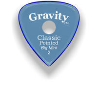 Load image into Gallery viewer, Classic Pointed Big Mini 2.0mm Blue Single Round Grip Acrylic Guitar Pick Handmade Custom Best Acoustic Mandolin Electric Ukulele Bass Plectrum Bright Loud Faster Speed