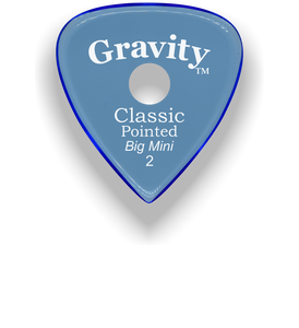 Classic Pointed Big Mini 2.0mm Blue Single Round Grip Acrylic Guitar Pick Handmade Custom Best Acoustic Mandolin Electric Ukulele Bass Plectrum Bright Loud Faster Speed