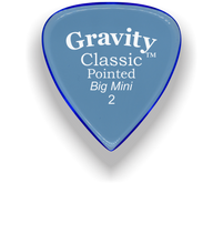 Load image into Gallery viewer, Classic Pointed Big Mini 2.0mm Blue Acrylic Guitar Pick Handmade Custom Best Acoustic Mandolin Electric Ukulele Bass Plectrum Bright Loud Faster Speed