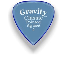Classic Pointed Big Mini 2.0mm Blue Acrylic Guitar Pick Handmade Custom Best Acoustic Mandolin Electric Ukulele Bass Plectrum Bright Loud Faster Speed