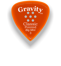 Load image into Gallery viewer, Classic Pointed Big Mini 3.0mm Orange Multi-Hole Grip Acrylic Guitar Pick Handmade Custom Best Acoustic Mandolin Electric Ukulele Bass Plectrum Bright Loud Faster Speed
