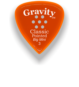 Classic Pointed Big Mini 3.0mm Orange Multi-Hole Grip Acrylic Guitar Pick Handmade Custom Best Acoustic Mandolin Electric Ukulele Bass Plectrum Bright Loud Faster Speed