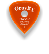 Load image into Gallery viewer, Classic Pointed Big Mini 3.0mm Orange Single Round Grip Acrylic Guitar Pick Handmade Custom Best Acoustic Mandolin Electric Ukulele Bass Plectrum Bright Loud Faster Speed
