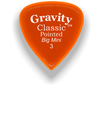 Load image into Gallery viewer, Classic Pointed Big Mini 3.0mm Orange Acrylic Guitar Pick Handmade Custom Best Acoustic Mandolin Electric Ukulele Bass Plectrum Bright Loud Faster Speed