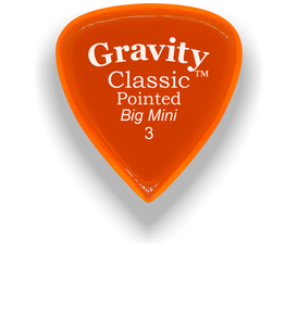 Classic Pointed Big Mini 3.0mm Orange Acrylic Guitar Pick Handmade Custom Best Acoustic Mandolin Electric Ukulele Bass Plectrum Bright Loud Faster Speed