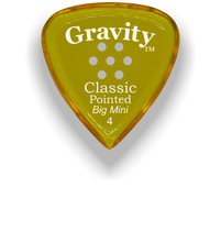Load image into Gallery viewer, Classic Pointed Big Mini 4.0mm Yellow Multi-Hole Grip Acrylic Guitar Pick Handmade Custom Best Acoustic Mandolin Electric Ukulele Bass Plectrum Bright Loud Faster Speed