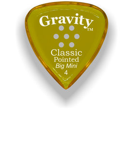 Classic Pointed Big Mini 4.0mm Yellow Multi-Hole Grip Acrylic Guitar Pick Handmade Custom Best Acoustic Mandolin Electric Ukulele Bass Plectrum Bright Loud Faster Speed