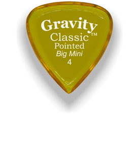 Classic Pointed Big Mini 4.0mm Yellow Acrylic Guitar Pick Handmade Custom Best Acoustic Mandolin Electric Ukulele Bass Plectrum Bright Loud Faster Speed
