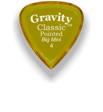 Load image into Gallery viewer, Classic Pointed Big Mini 4.0mm Yellow Acrylic Guitar Pick Handmade Custom Best Acoustic Mandolin Electric Ukulele Bass Plectrum Bright Loud Faster Speed