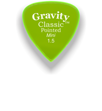 Load image into Gallery viewer, Classic Pointed Mini Jazz 1.5mm Fluorescent Green Acrylic Guitar Pick Handmade Custom Best Acoustic Mandolin Electric Ukulele Bass Plectrum Bright Loud Faster Speed