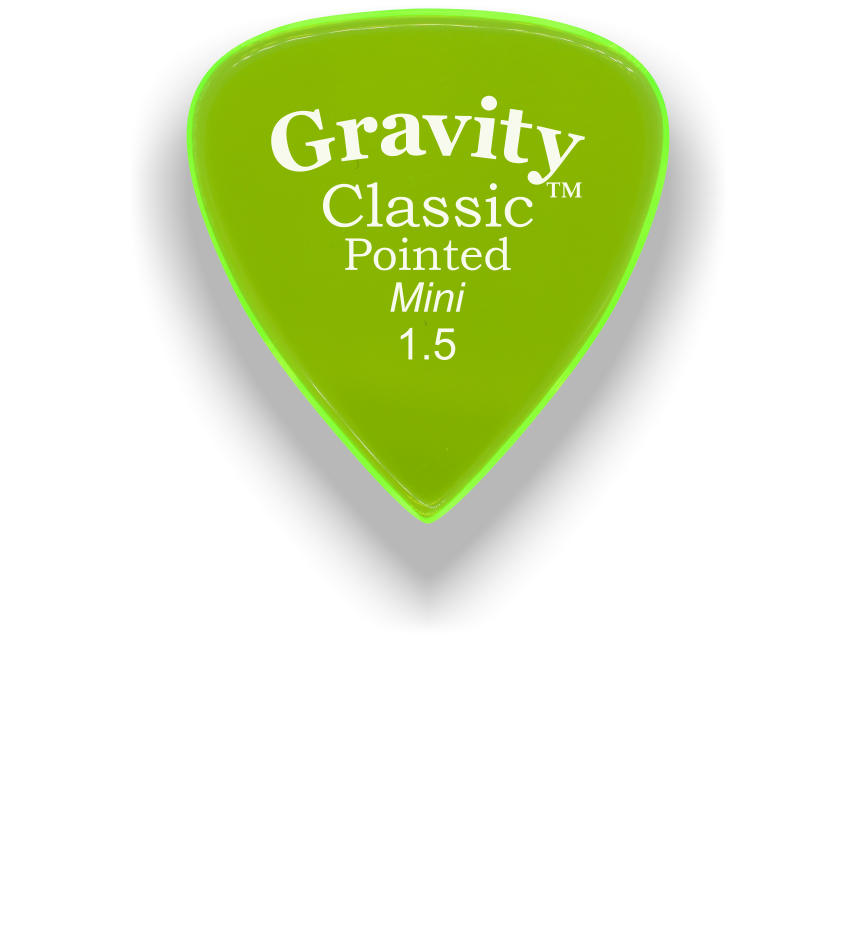 Classic Pointed Mini Jazz 1.5mm Fluorescent Green Acrylic Guitar Pick Handmade Custom Best Acoustic Mandolin Electric Ukulele Bass Plectrum Bright Loud Faster Speed