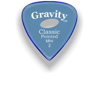 Load image into Gallery viewer, Classic Pointed Mini Jazz 2.0mm Blue Elipse Grip Acrylic Guitar Pick Handmade Custom Best Acoustic Mandolin Electric Ukulele Bass Plectrum Bright Loud Faster Speed