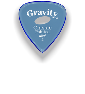 Classic Pointed Mini Jazz 2.0mm Blue Elipse Grip Acrylic Guitar Pick Handmade Custom Best Acoustic Mandolin Electric Ukulele Bass Plectrum Bright Loud Faster Speed