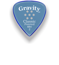 Load image into Gallery viewer, Classic Pointed Mini Jazz 2.0mm Blue Multi-Hole Grip Acrylic Guitar Pick Handmade Custom Best Acoustic Mandolin Electric Ukulele Bass Plectrum Bright Loud Faster Speed
