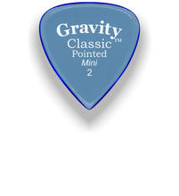 Load image into Gallery viewer, Classic Pointed Mini Jazz 2.0mm Blue Acrylic Guitar Pick Handmade Custom Best Acoustic Mandolin Electric Ukulele Bass Plectrum Bright Loud Faster Speed