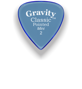 Classic Pointed Mini Jazz 2.0mm Blue Acrylic Guitar Pick Handmade Custom Best Acoustic Mandolin Electric Ukulele Bass Plectrum Bright Loud Faster Speed