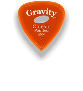 Classic Pointed Mini Jazz 3.0mm Orange Elipse Grip Acrylic Guitar Pick Handmade Custom Best Acoustic Mandolin Electric Ukulele Bass Plectrum Bright Loud Faster Speed