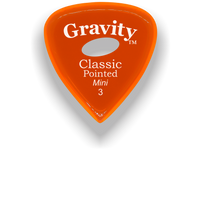 Load image into Gallery viewer, Classic Pointed Mini Jazz 3.0mm Orange Elipse Grip Acrylic Guitar Pick Handmade Custom Best Acoustic Mandolin Electric Ukulele Bass Plectrum Bright Loud Faster Speed