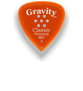 Classic Pointed Mini Jazz 3.0mm Orange Multi-Hole Grip Acrylic Guitar Pick Handmade Custom Best Acoustic Mandolin Electric Ukulele Bass Plectrum Bright Loud Faster Speed