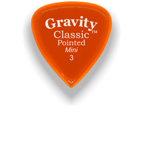 Load image into Gallery viewer, Classic Pointed Mini Jazz 3.0mm Orange Acrylic Guitar Pick Handmade Custom Best Acoustic Mandolin Electric Ukulele Bass Plectrum Bright Loud Faster Speed