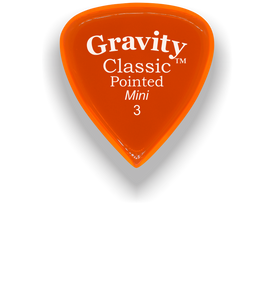 Classic Pointed Mini Jazz 3.0mm Orange Acrylic Guitar Pick Handmade Custom Best Acoustic Mandolin Electric Ukulele Bass Plectrum Bright Loud Faster Speed