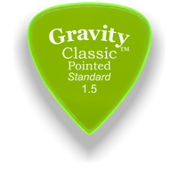 Load image into Gallery viewer, Classic Pointed Standard 1.5mm Fluorescent Green Acrylic Guitar Pick Handmade Custom Best Acoustic Mandolin Electric Ukulele Bass Plectrum Bright Loud Faster Speed