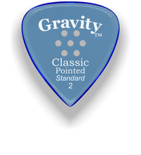 Load image into Gallery viewer, Classic Pointed Standard 2.0mm Blue Multi-Hole Grip Acrylic Guitar Pick Handmade Custom Best Acoustic Mandolin Electric Ukulele Bass Plectrum Bright Loud Faster Speed