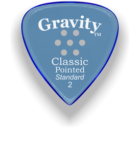 Classic Pointed Standard 2.0mm Blue Multi-Hole Grip Acrylic Guitar Pick Handmade Custom Best Acoustic Mandolin Electric Ukulele Bass Plectrum Bright Loud Faster Speed