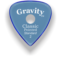 Load image into Gallery viewer, Classic Pointed Standard 2.0mm Blue Single Round Grip Acrylic Guitar Pick Handmade Custom Best Acoustic Mandolin Electric Ukulele Bass Plectrum Bright Loud Faster Speed