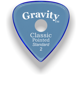 Classic Pointed Standard 2.0mm Blue Single Round Grip Acrylic Guitar Pick Handmade Custom Best Acoustic Mandolin Electric Ukulele Bass Plectrum Bright Loud Faster Speed