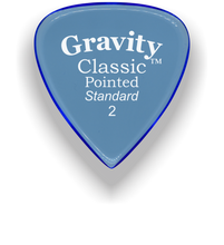 Load image into Gallery viewer, Classic Pointed Standard 2.0mm Blue Acrylic Guitar Pick Handmade Custom Best Acoustic Mandolin Electric Ukulele Bass Plectrum Bright Loud Faster Speed
