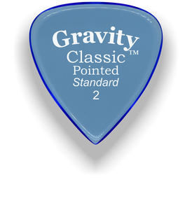Classic Pointed Standard 2.0mm Blue Acrylic Guitar Pick Handmade Custom Best Acoustic Mandolin Electric Ukulele Bass Plectrum Bright Loud Faster Speed