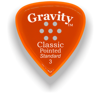 Load image into Gallery viewer, Classic Pointed Standard 3.0mm Orange Multi-Hole Grip Acrylic Guitar Pick Handmade Custom Best Acoustic Mandolin Electric Ukulele Bass Plectrum Bright Loud Faster Speed