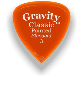 Classic Pointed Standard 3.0mm Orange Acrylic Guitar Pick Handmade Custom Best Acoustic Mandolin Electric Ukulele Bass Plectrum Bright Loud Faster Speed