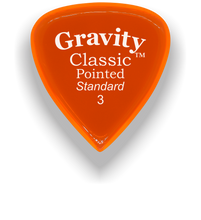 Load image into Gallery viewer, Classic Pointed Standard 3.0mm Orange Acrylic Guitar Pick Handmade Custom Best Acoustic Mandolin Electric Ukulele Bass Plectrum Bright Loud Faster Speed
