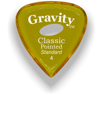Load image into Gallery viewer, Classic Pointed Standard 4.0mm Yellow Elipse Grip Acrylic Guitar Pick Handmade Custom Best Acoustic Mandolin Electric Ukulele Bass Plectrum Bright Loud Faster Speed