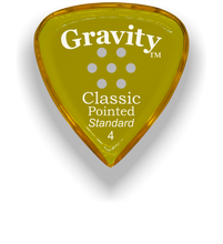 Load image into Gallery viewer, Classic Pointed Standard 4.0mm Yellow Multi-Hole Grip Acrylic Guitar Pick Handmade Custom Best Acoustic Mandolin Electric Ukulele Bass Plectrum Bright Loud Faster Speed
