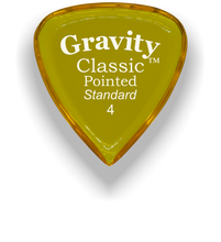 Load image into Gallery viewer, Classic Pointed Standard 4.0mm Yellow Acrylic Guitar Pick Handmade Custom Best Acoustic Mandolin Electric Ukulele Bass Plectrum Bright Loud Faster Speed